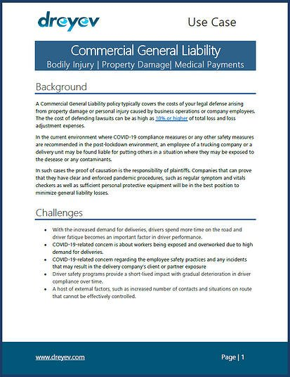 Commercial General Liability Use Case image. v2